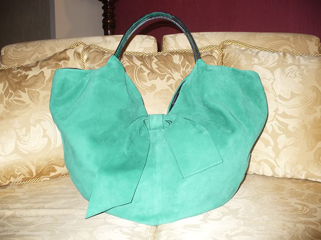 Valentino Suede Bow Bag