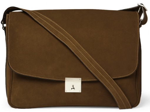 Valextra Suede Messenger Bag
