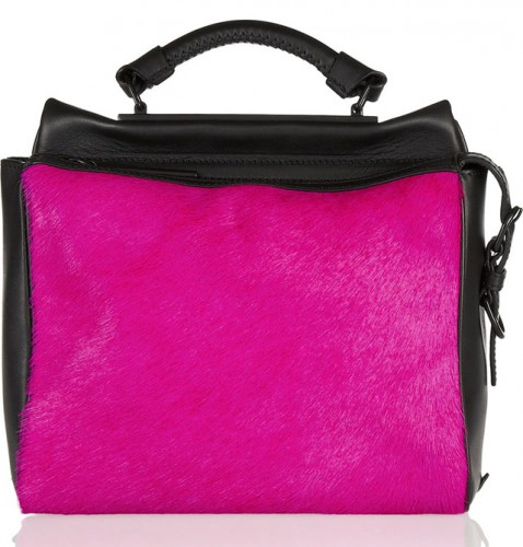 3.1 Phillip Lim Ryder Small Two-Tone Leather and Calf Hair Satchel