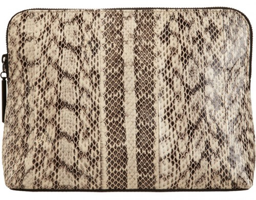 3.1 Phillip Lim Snakeskin 31 Minute Cosmetic Bag