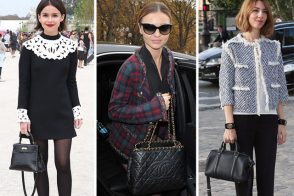 Celebrity Handbags Paris Fashion Week Spring 2014
