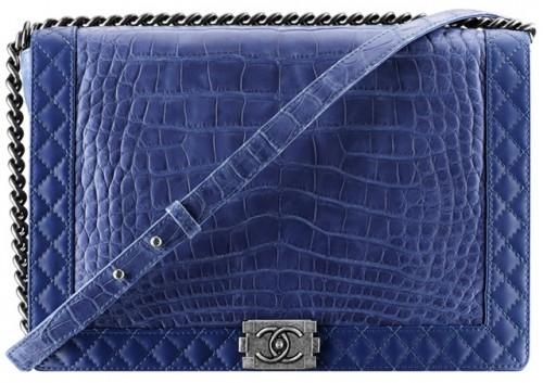 Chanel Alligator Boy Bag in Blue