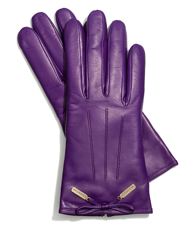 Coach Leather Bow Glove