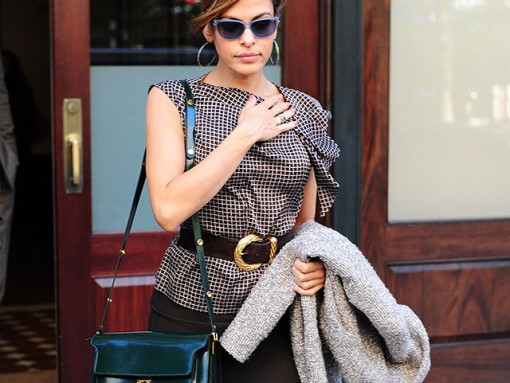 """Eva Mendes Carries a Marni Bag to """"The View"""""""