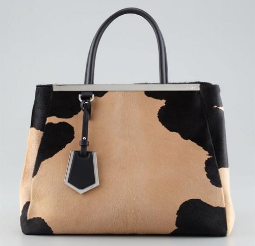 Fendi 2Jours Calf Hair Tote Bag