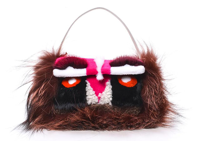 Fendi Mini Monster Baguette Bag
