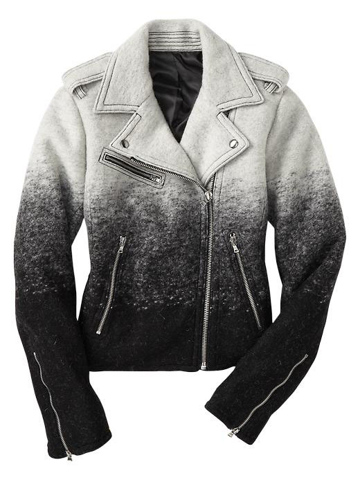 Gap Ombre Wool Moto Jacket