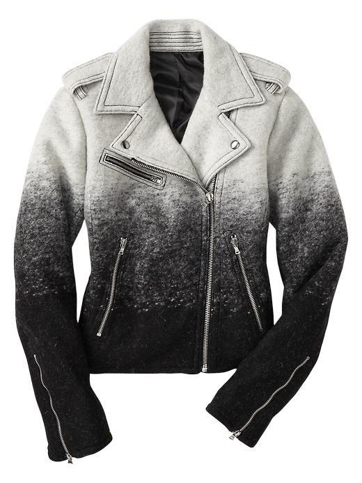 Gap Ombre Wool Moto Jacket