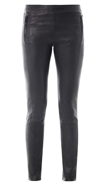 J Brand Morgan Stretch Leather Trousers