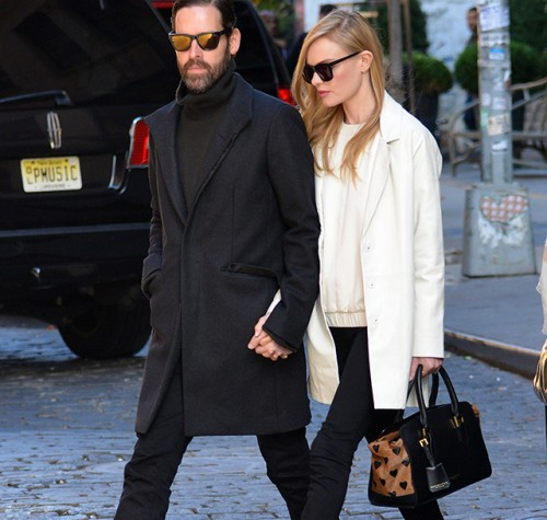 Kate Bosworth carries a heart-print Burberry bag in NYC (5)