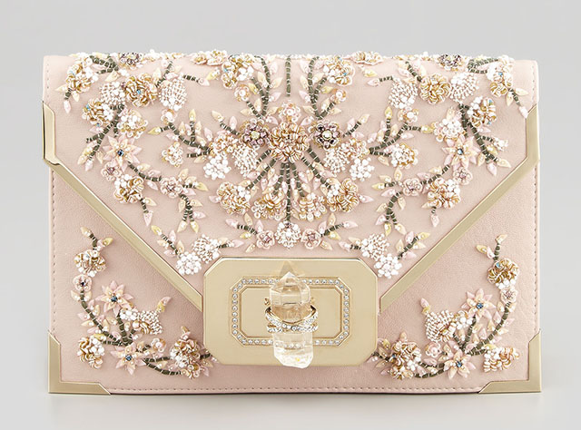 Marchesa Valentina Beaded Envelope Clutch