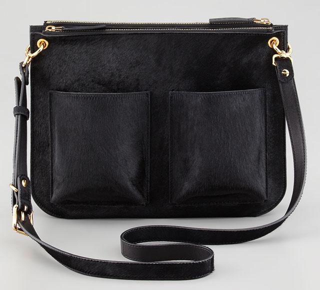 Marni Bandoleer Calf Hair Shoulder Bag