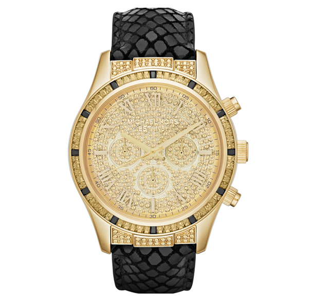 Michael Kors 'Layton' Pavé Dial Chronograph Watch, 44mm