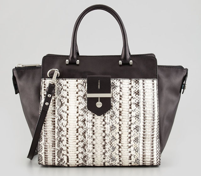 Milly Makene Snakeskin Tote