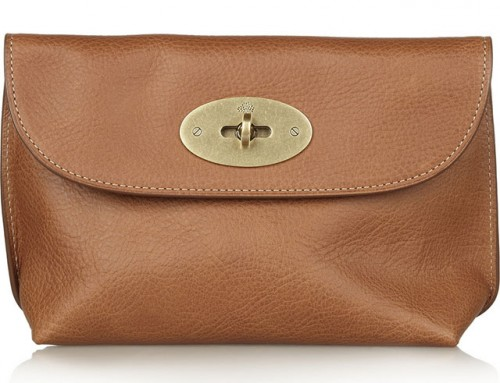 Mulberry Leather Cosmetics Case