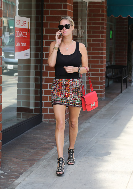 Nicky Hilton carries an Hermes Constance Bag in LA (3)