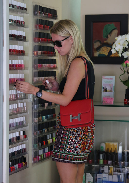 Nicky Hilton carries an Hermes Constance Bag in LA (1)