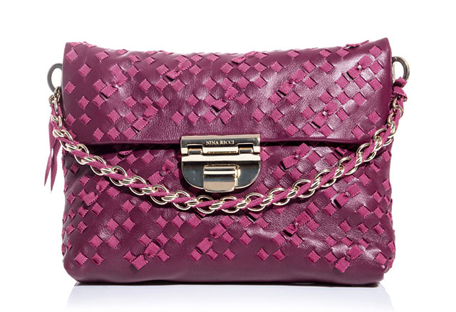 Nina Ricci Grosgrain Embroidered Bag