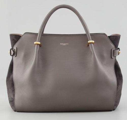 Nina Ricci Marche Small Gray Tote Bag