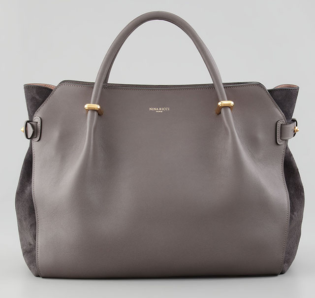Nina Ricci Marche Small Gray Tote Bag
