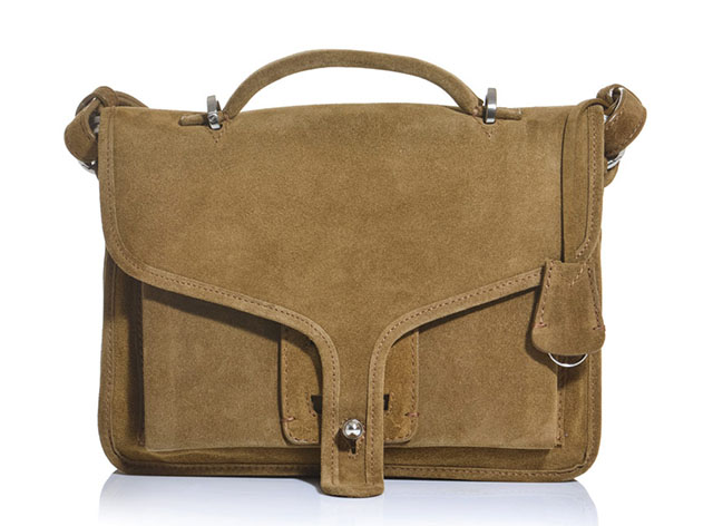 Opening Ceremony Suede Satchel Bag