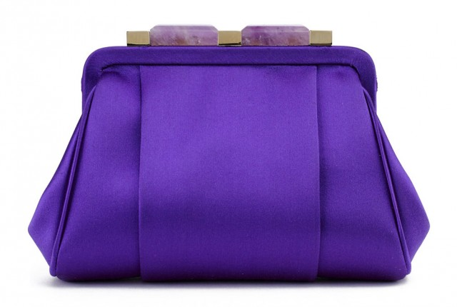 Oscar de la Renta Mini Marilia Bag, Purple