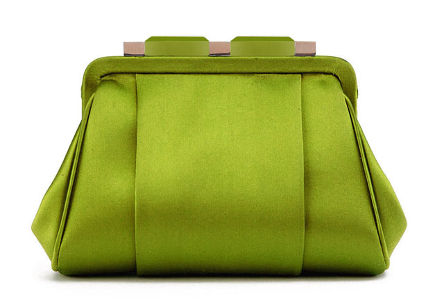Oscar de la Renta Mini Marilia Clutch Green
