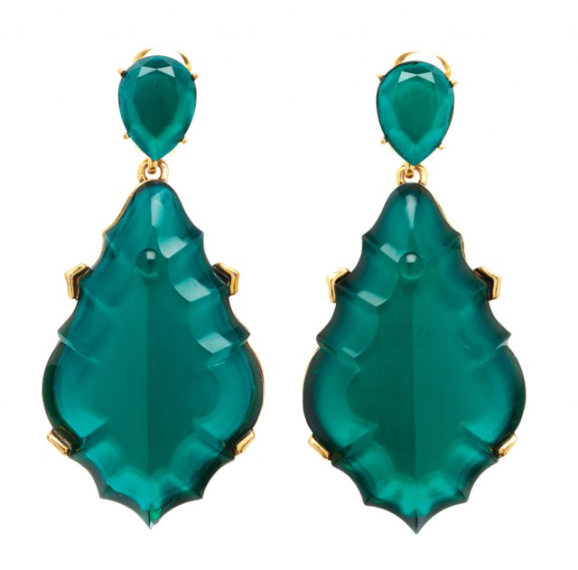 Oscar de la Renta Resin Chandelier Earrings