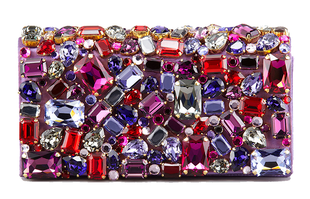 Prada Jeweled Satin Clutch