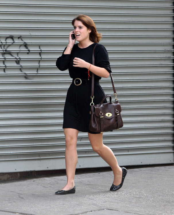Princess Eugenie carries a Mulberry Alexa Bag in NYC (2)