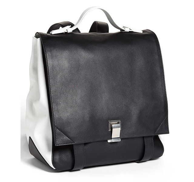 Proenza Schouler PS Large Backpack Black and White