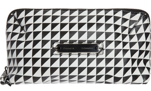 Proenza Schouler Triangle Print Large Makeup Case
