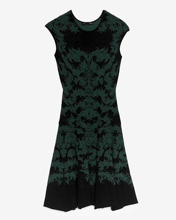 RVN Jacquard Flare Dress