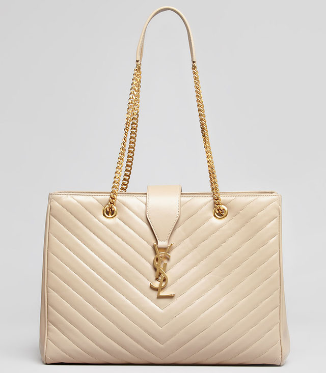 Saint Laurent Cassandre Matelasse Chain Strap Shopper