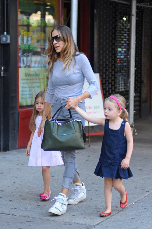 Sarah Jessica Parker carries a Coach Borough Bag in NYC (2)