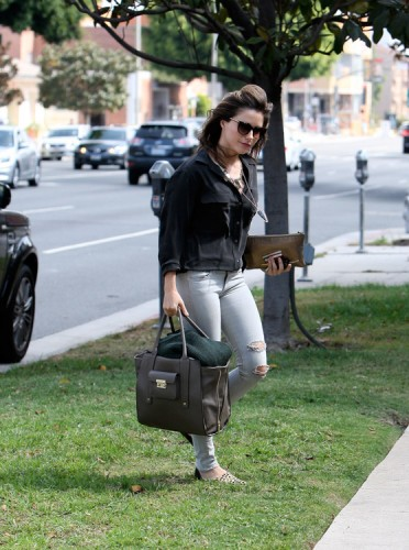 Sophia Bush carries bags from 3.1 Phillip Lim for Target and Lanvin (2)