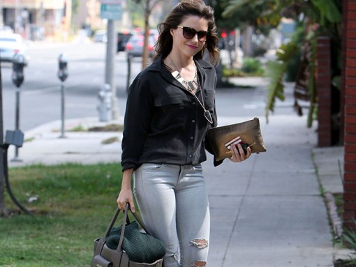 Sophia Bush carries bags from 3.1 Phillip Lim for Target and Lanvin (5)