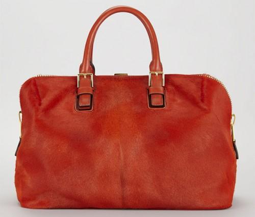 Tom Ford Petra Zip Frame Calf Hair & Brushed Calf Leather Satchel Bag-in-Bag