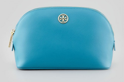 Tory Burch Robinson Leather Cosmetic Bag