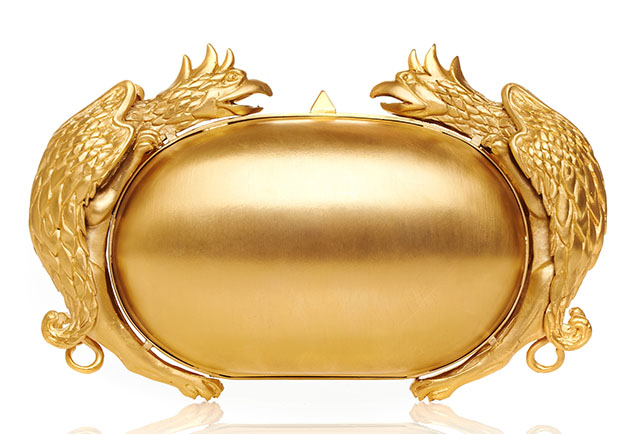 Valentino Gold Gryphon Minaudiere