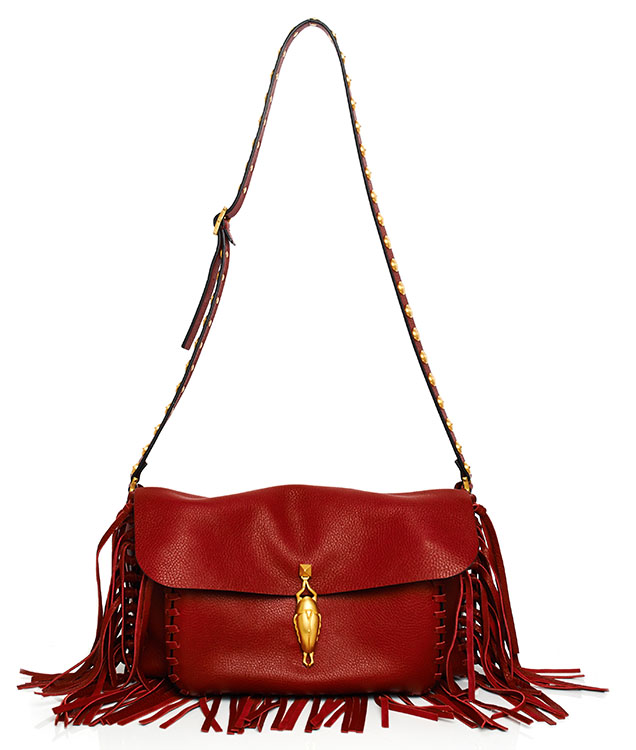 Valentino Scarlet Fringe Shoulder Bag