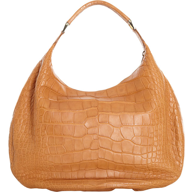 Valextra Crocodile Namaste Big Hobo Bag