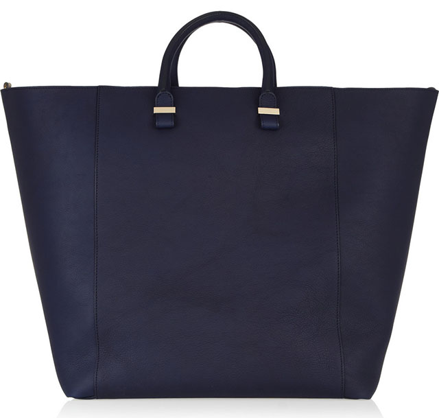 Victoria Beckham Matte-Leather Trapeze Bag