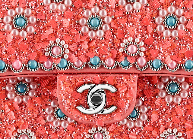Chanel Classic Flap Bag Beaded Closeup