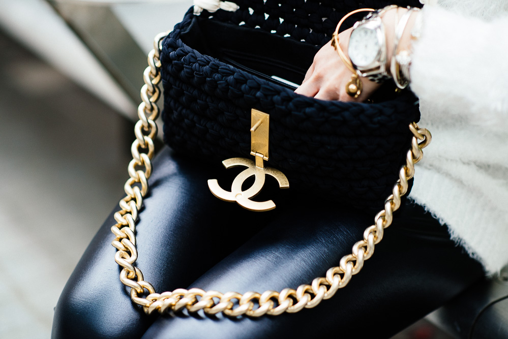 Chanel Flapbag in Ribbon/Lambskin/Metal
