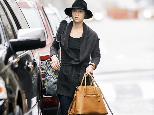 470748de5419 Claire Danes Goes for a Walk With Her Pup and Her Prada Bag