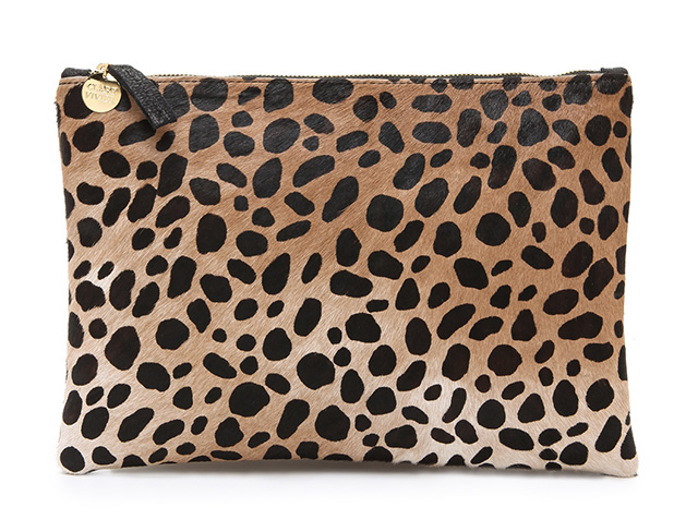 Clare Vivier Flat Haircalf Clutch