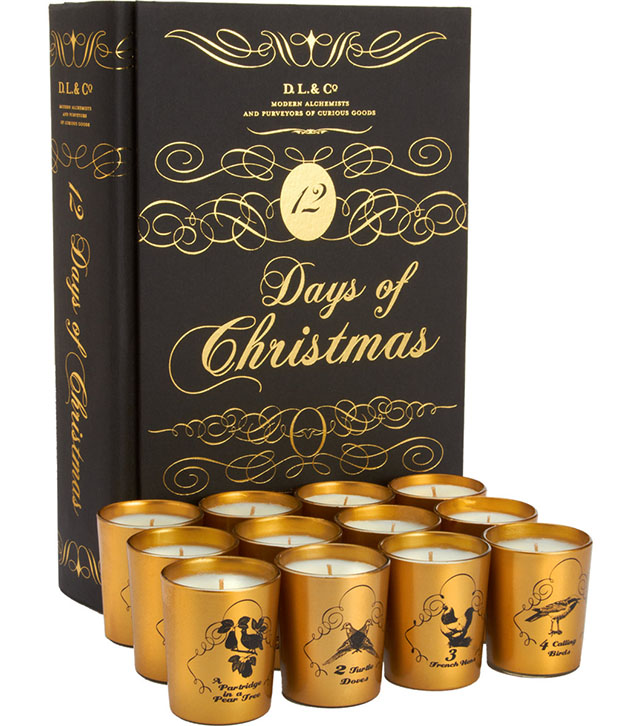 D.L. & Co. 12 Days of Christmas Candle Set