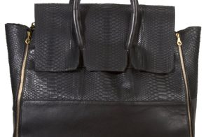 Man Bag Monday: En Noir Snakeskin Travel Bag