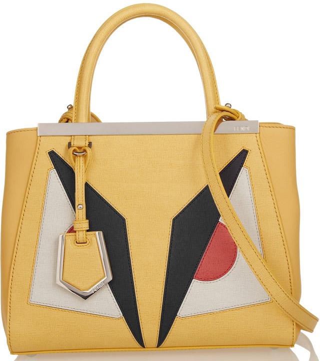Fendi 2Jours Small Shopper Yellow